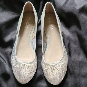Aldo Embellished See Through Ballet Flats Size 8